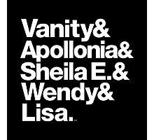 Prince Protégés Apollonia & Carmen Electra Helvetica Threads Photographic Print
