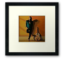 Chris Whitley painting Framed Print