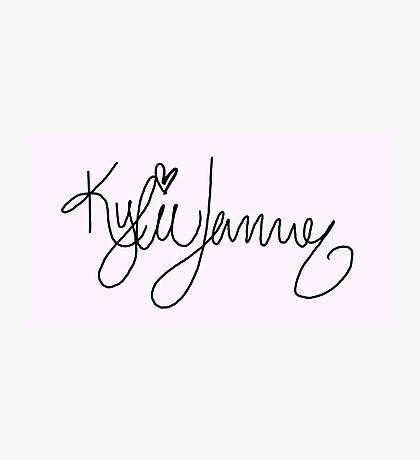 Kylie Jenner Signature Photographic Print