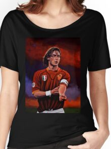 Francesco Totti painting Women's Relaxed Fit T-Shirt