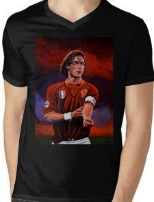 Francesco Totti painting Mens V-Neck T-Shirt