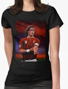 Francesco Totti painting Womens Fitted T-Shirt