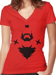 HAIR STYLE ZANGIEF Women's Fitted V-Neck T-Shirt