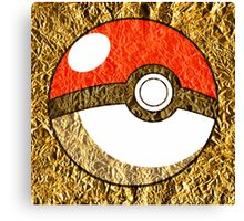 Pokeball Gold Design (T-shirt, Phone Case & more)  Canvas Print