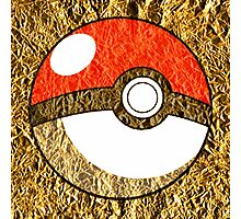 Pokeball Gold Design (T-shirt, Phone Case & more)  Photographic Print