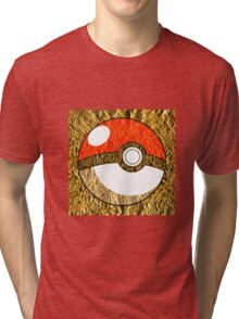 Pokeball Gold Design (T-shirt, Phone Case & more)  Tri-blend T-Shirt
