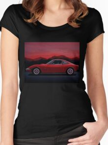 Opel GT Painting Women's Fitted Scoop T-Shirt