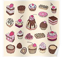 Yummy colorful Cupcakes Poster