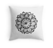 Zen Flower Throw Pillow