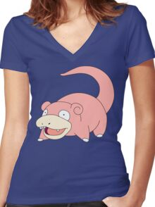 Pokemon - Slowpoke Women's Fitted V-Neck T-Shirt