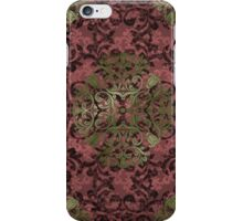Damask in red and gold 1.0 iPhone Case/Skin