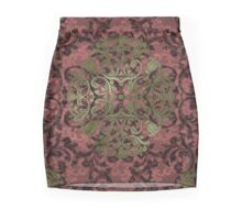 Damask in red and gold 1.0 Mini Skirt