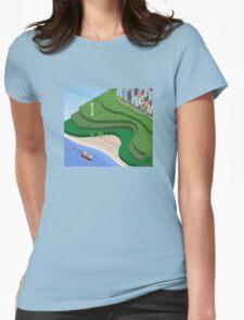 Beach Sea isometric  Womens Fitted T-Shirt