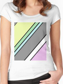 Urban Geometry 2 - Colour At 45 Degrees Women's Fitted Scoop T-Shirt