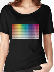 Color Chart Grid Women's Relaxed Fit T-Shirt