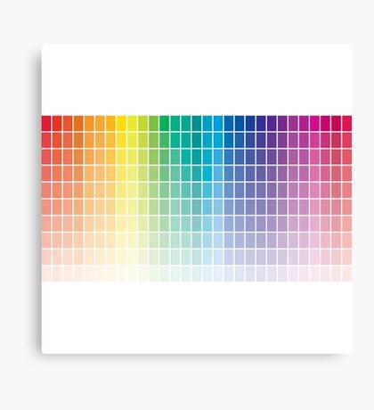 Color Chart Grid Canvas Print