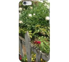 Fence and Flowers iPhone Case/Skin