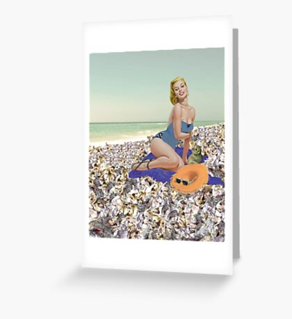 Mary Toft Pin Up Greeting Card