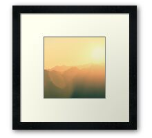 mountain love Framed Print