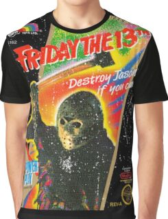NES Friday the 13th Distressed Cover Graphic T-Shirt