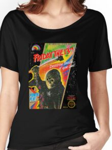 NES Friday the 13th Distressed Cover Women's Relaxed Fit T-Shirt