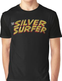 Silver Surfer - Classic Title - Dirty Graphic T-Shirt