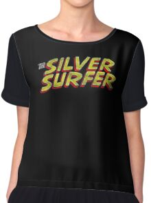 Silver Surfer - Classic Title - Dirty Chiffon Top
