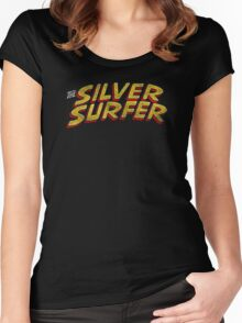 Silver Surfer - Classic Title - Dirty Women's Fitted Scoop T-Shirt