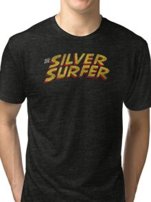 Silver Surfer - Classic Title - Dirty Tri-blend T-Shirt