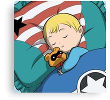 Baby Steve & Bucky Bear Canvas Print