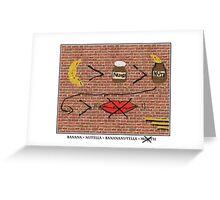 Banana > Nutella x Mouth Greeting Card