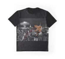 Catzilla - Laser Cat Graphic T-Shirt