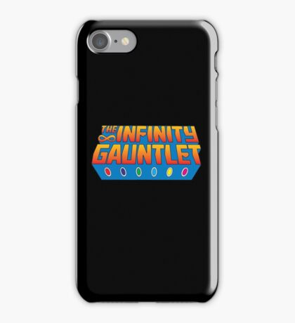 Infinity Gauntlet - Classic Title - Clean iPhone Case/Skin