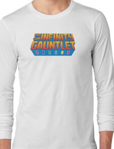 Infinity Gauntlet - Classic Title - Clean Long Sleeve T-Shirt