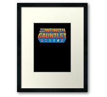 Infinity Gauntlet - Classic Title - Clean Framed Print