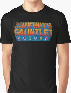 Infinity Gauntlet - Classic Title - Dirty Graphic T-Shirt