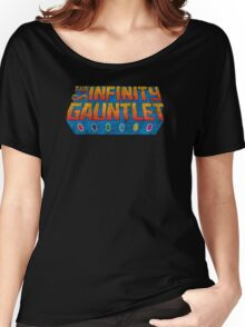 Infinity Gauntlet - Classic Title - Dirty Women's Relaxed Fit T-Shirt