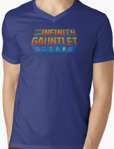 Infinity Gauntlet - Classic Title - Dirty Mens V-Neck T-Shirt