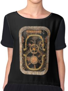 Infernal Steampunk Machine #1 T-shirt / Stickers Chiffon Top