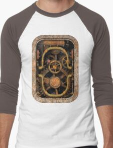 Infernal Steampunk Vintage Machine #1 Men's Baseball ¾ T-Shirt