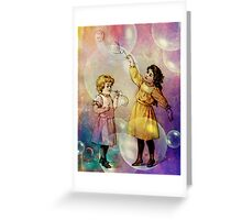 FUN IN BUBBLE LAND Greeting Card