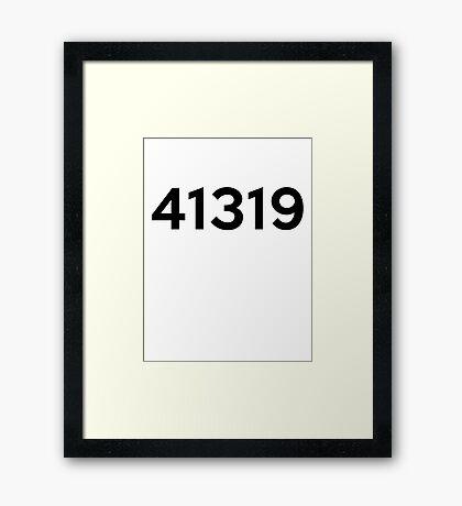 41319 Framed Print