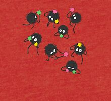 Soot sprites from Spirited away Tri-blend T-Shirt