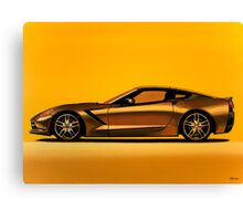 Chevrolet Corvette Stingray Painting Canvas Print