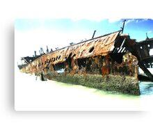 Fraser Islands Maheno Shipwreck Canvas Print