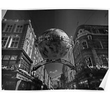 London 090 BW Poster