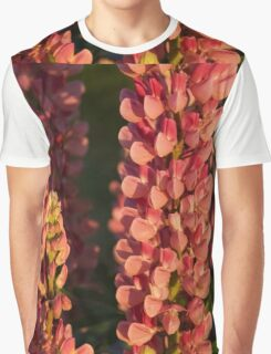 Hot Pink Lupines From My Mother's Garden Graphic T-Shirt