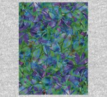Floral Abstract Stained Glass One Piece - Short Sleeve