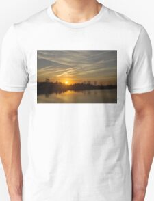 Cool Contrails and Sunshine Unisex T-Shirt