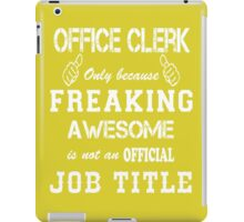 Office Clerk iPad Case/Skin